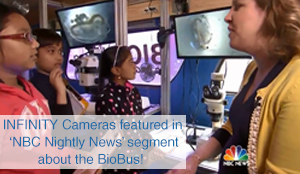 Lumenera's INFINITY Cameras featured in 'NBC Nightly News with Lester Holt segment' about the BioBus!
