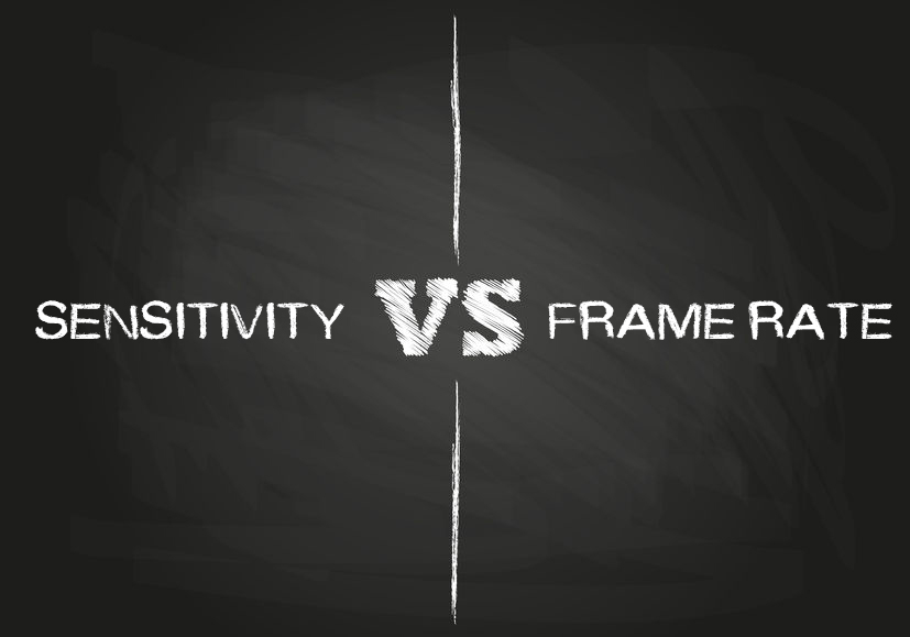 Sensitivity vs. Frame Rate in Low Light Imaging