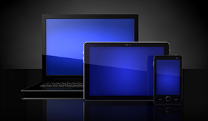 Laptop, tablet, cellphone