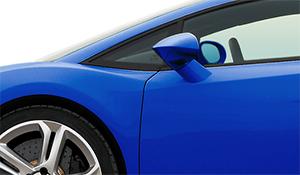 photo of a blue car